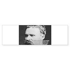 Nietzsche: Live Dangerously Bumper Bumper Sticker
