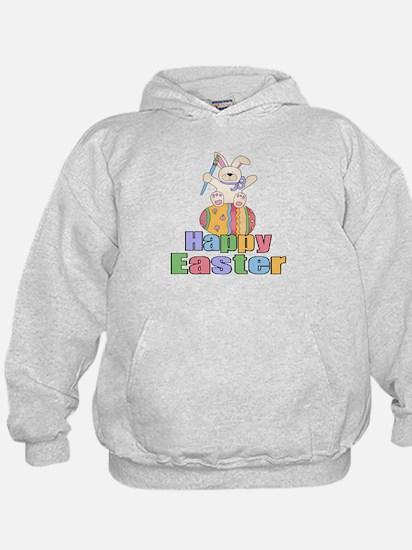 Happy Easter Artist Bunny Hoodie