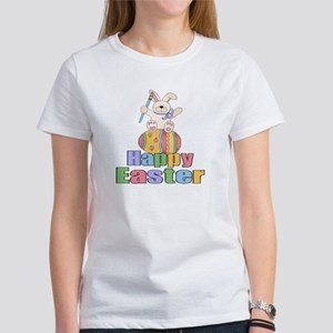 Happy Easter Artist Bunny Women's T-Shirt