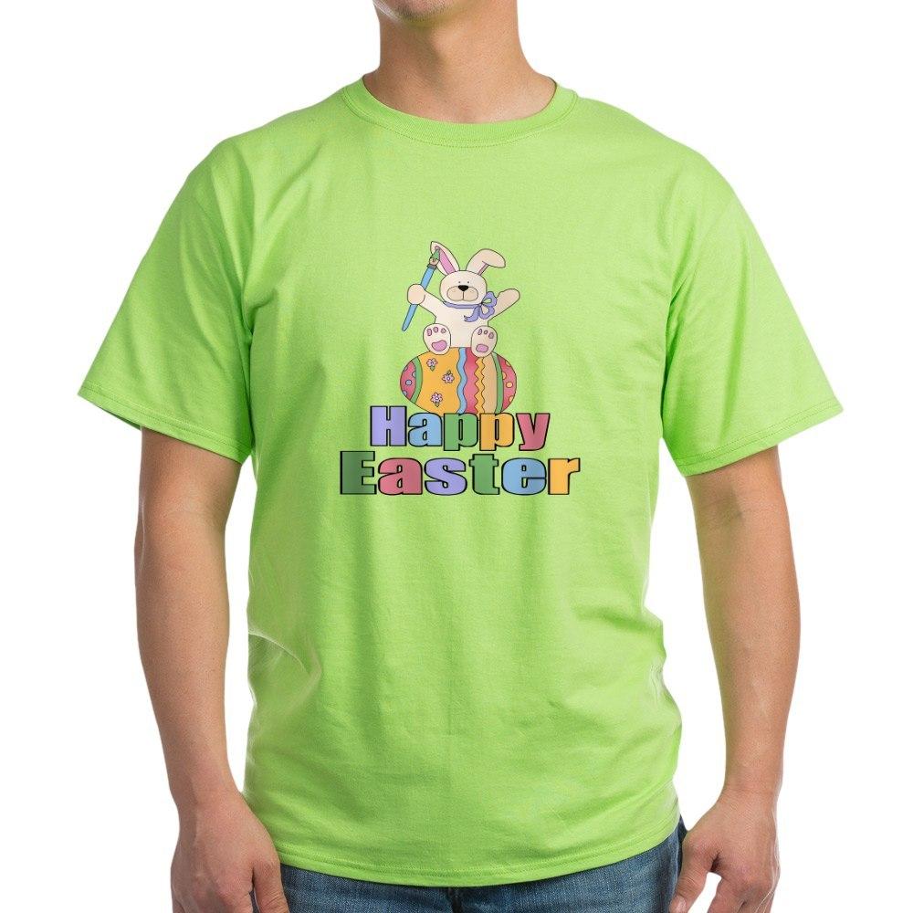 f0e0e722 CafePress Happy Easter Artist Bunny Light T Shirt Light T-Shirt ...