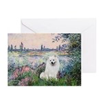 Seine / Eskimo Spitz #1 Greeting Cards (Pk of 10)