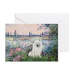 Seine / Eskimo Spitz #1 Greeting Cards (Pk of 20)