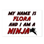 my name is flora and i am a ninja Postcards (Packa