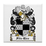 Fitz-Rice Coat of Arms Tile Coaster