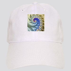 Feathered Mandelbrot Spiral Baseball Cap