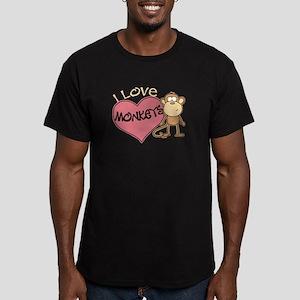 I Love Monkeys Men's Fitted T-Shirt (dark)