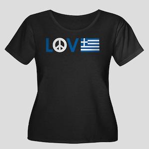 love peace greece Plus Size T-Shirt