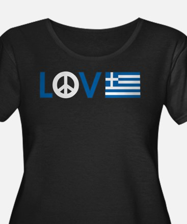 love peace greece Plus Size T-Shirt