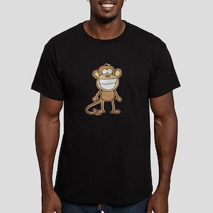 Big Monkey Grin Men's Fitted T-Shirt (dark)
