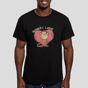 Monkey Love Men's Fitted T-Shirt (dark)