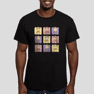 9 Monkeys Pastel Men's Fitted T-Shirt (dark)