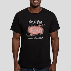 Cherished Grammy Men's Fitted T-Shirt (dark)