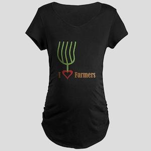 I Heart Farmers Maternity Dark T-Shirt