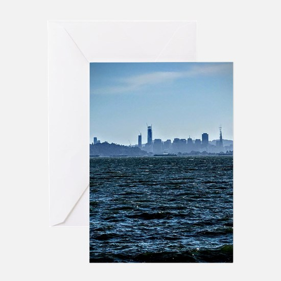 The city by the bay Greeting Cards