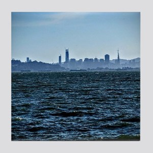 The city by the bay Tile Coaster