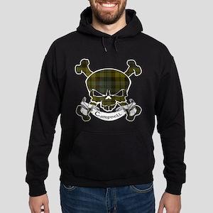 Campbell Tartan Skull Hoodie (dark)