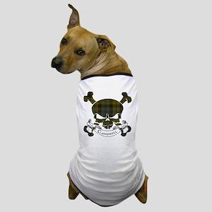 Campbell Tartan Skull Dog T-Shirt