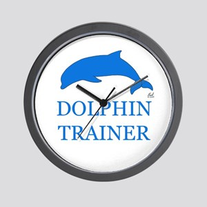 Dolphin Trainer Wall Clock