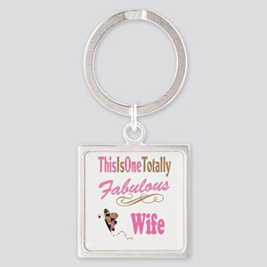 Fabulous Wife Square Keychain