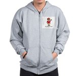 Football Nut (red) Zip Hoodie
