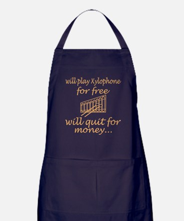 Will Play Xylophone For Free Will Qui Apron (dark)