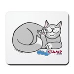 Gray/White ASL Kitty Mousepad