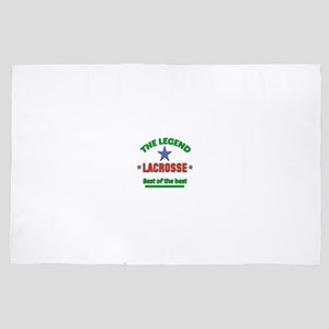 The Legend Lacrosse Sports Designs 4' x 6' Rug