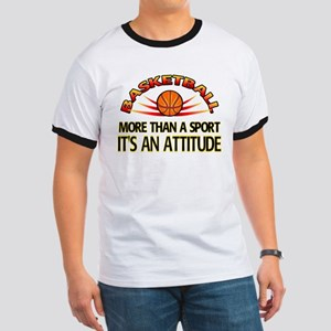 Basketball- It's An Attitude Ringer T