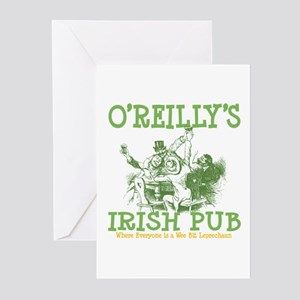 O'Reilly's Irish Pub Personalized Greeting Cards (