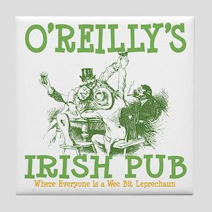 O'Reilly's Irish Pub Personalized Tile Coaster