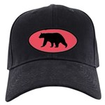 Black Bear Cap with rose background