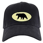 Black Bear Cap with yellow background
