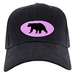 Black Bear Cap with pink background