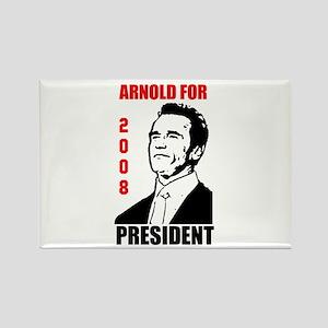 Arnold For President Rectangle Magnet