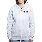 Ladybugs Women's Zip Hoodie