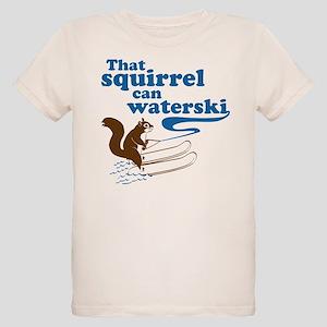 That Squirrel Can Waterski Organic Kids T-Shirt