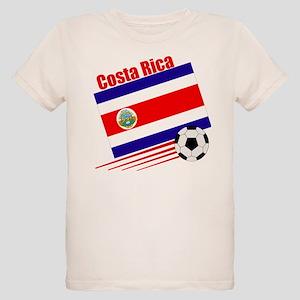 Costa Rica Soccer Team Organic Kids T-Shirt