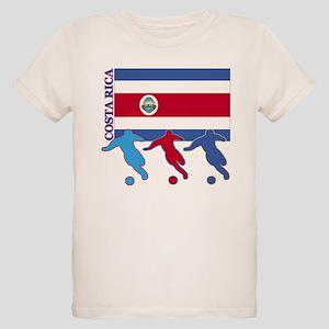 Costa Rica Soccer Organic Kids T-Shirt
