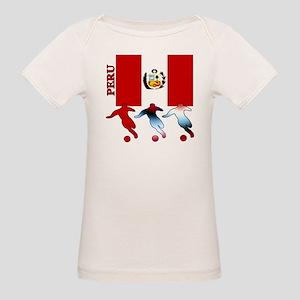 Peru Soccer Organic Baby T-Shirt