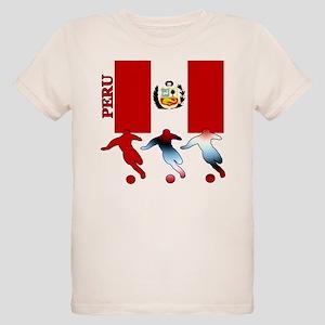 Peru Soccer Organic Kids T-Shirt