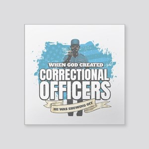 God Created Correctional Officers American Sticker