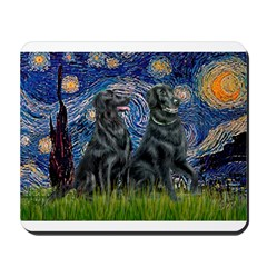 Starry / Two Flat Coated Ret Mousepad