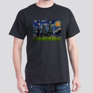 Starry / Two Flat Coated Ret Dark T-Shirt