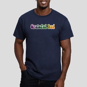 Grateful Dad Men's Fitted T-Shirt (dark)
