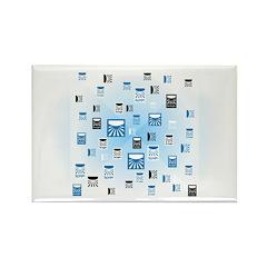 Random Logo Rectangle Magnet (10 pack)