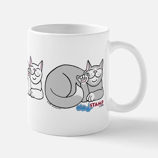 3 ASL Kitties Mug