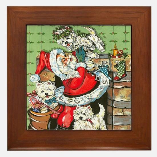 Santa's Little Helpers Framed Tile