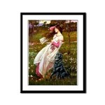 Windflowers / Flat Coated Ret Framed Panel Print
