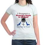 Woman's Choice pro-gun Jr. Ringer T-Shirt