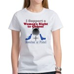 Woman's Choice pro-gun Women's T-Shirt
